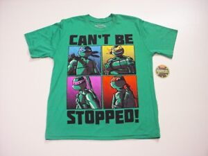 Teenage Mutant Ninja Turtles Boys Can't Be Stopped Poly Graphic T-Shirt 10-12 L