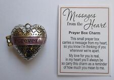p Forever Love MESSAGES FROM THE HEART Prayer Box Charm Ganz Valentine's day