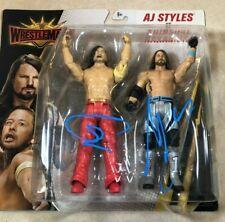 WWE AJ STYLES/SHINSUKE NAKAMURA Dual Signed Wrestlemania Battle Pack Figure