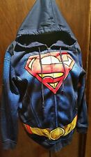 NEW WITH TAGS  MEN'S ZIP UP  SWEATSHIRT W/ HOOD SIZE LARGE SUPERMAN NEW