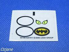 LEGO PART BATMAN 2006 STICKER SET 7779 CATWOMAN EYES BATMAN SYMBOL ONLY