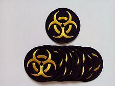 "10 BIOHAZARD (Black/Yellow) Embroidered Patches 3"" Diameter"