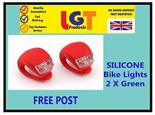 2 x LED Rosso in Silicone Bici Zaino da Campeggio POSTERIORE LUCE **