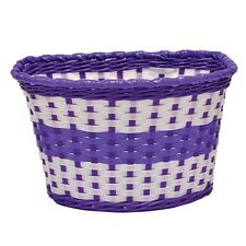 Lilac Childrens Woven Bike Basket  - Free Delivery
