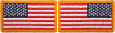"Red White & Blue USA Flag Military American Flag Patch 1-7/8"" x 3-1/4"""