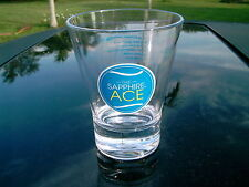 THE SAPPHIRE ACE  DRINK BOMBAY GIN  LOGO ACRYLIC HEAVY GLASS   REPLACEMENT