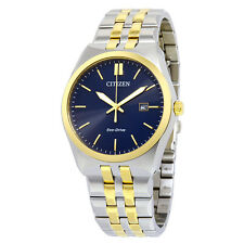 Citizen Eco Drive BM7334-58L Mens Two Tone Steel Blue Dial Date 40mm Date Watch