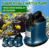 220-240V 55W Submersible Water Pump 4500L/H Clean Clear Pool Pond Flood Tool