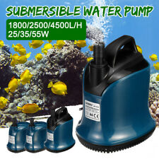 220-240V 55W Submersible Water Pump 4500L/H Clean Clear Pool Pond Flood Tool  AU