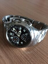 SWATCH CHRONO IRONY ANNI 90 - SWISS MADE CHRONOGRAPH ALL STAINLESS STEEL BEAUTY!
