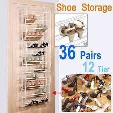 36 Pair Over The Door Hanging Shoe Holder Organiser Shelf Rack Storage Hook