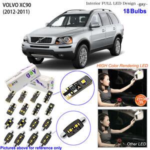 18 Bulbs Deluxe Interior LED Light Kit White Dome Light for 2002-2011 Volvo XC90