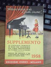 """""""Adesso tocca a te... e fatti onore!"""" SPARTITO MUSICALE '58 PIANOFORTE CURCI L-5"""