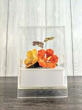 "Vintage Mcm Van Horn Hayward Butterfly Flower Music Box ""Will Wait for You."""