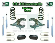 "82-05 Chevy S-10 S10 GMC S15 Sonoma Jimmy 3"" / 3"" Drop Spindles KIT 4 Cyl SHOCKS"