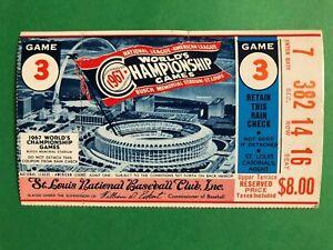 1967 WORLD SERIES TICKET GAME 3  BOSTON @ ST LOUIS