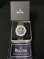 Bulova Men's Watch Marine Star Diamond Accents Black Dial