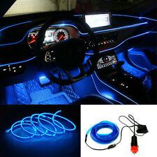 Car 6.5ft/2M Panel Gap Neon Lamp Strip Decorative Atmosphere Blue Cold EL Light