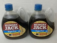 2 bottles Hungry Jack Microwaveable Bottle Sugar Free Butter Pancake Syrup 27.6