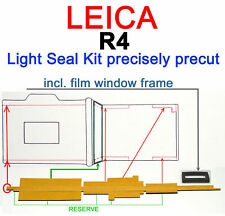 LEICA R4 Light Seal kit + film window frame PRECISELY PRECUT to fit LEICA R4