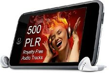 Over 500 - Royalty-Free Music Audio Tracks - w - PLR Rights + Unrestricted Use !