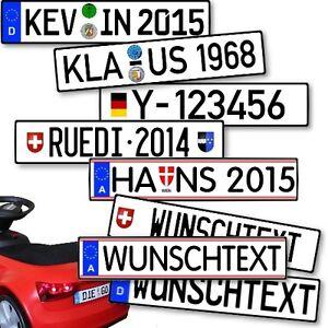 Kfz-Kennzeichen Rutscher Kart Bobby Go Kett Kinderfahrzeug als Aufkleber