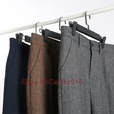 Men's Wool Straight-Leg Business Trousers Formal Retro Loose Herringbone Pants