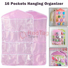 16 Pockets Clear Over Door Home Hanging Bag Shoe Rack Hanger Organizer Storage