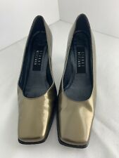 Stuart Weitzman Olive Green Patent leather Square Toe Pumps Size 6 B Women's