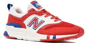 NEW Men's SZ 12D NEW BALANCE 997H Prep Shoes RED, WHITE & BLUE CM997HBZ