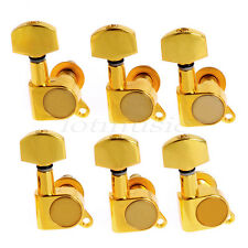 Guitar String Inline Tuning Pegs Tuners Keys Machine Heads 6R Chrome / Gold
