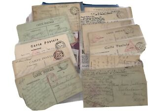 Ww1 Field Service Post Cards And Censored Post Cards Joblot