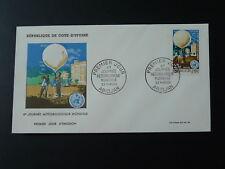 meteorology world day hot air balloon FDC Ivory Coast 74102