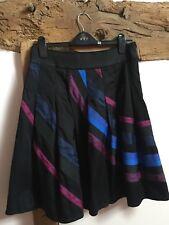 COAST Cotton Satin Skirt/silk Trim Size 12 Excellent Condition
