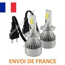 KIT AMPOULE LED H7 COB VENTILE 72W 7600 LUMENS 6000K BLANC PUR ENVOI DE FRANCE
