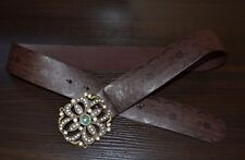 Cute Belt Faux Leather Bling Rhinestone Embellished Buckle Juniors Size 9