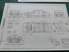Opel Kadett C Coupé 1973 Konstruktionszeichnung/ Blueprint.