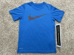 Nike Boys Blue Legend Dri-FIT Polyester Graphic T-Shirt S Small unisex girls