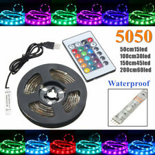 2M 200CM 60LED 5050LED RGB Strip Light USB Cable TV Monitors Background