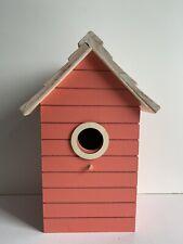 More details for new wooden terracotta bird nesting box garden sparrows blue tits bird box.