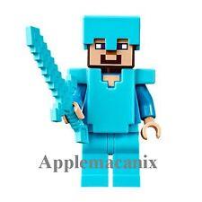 NEW LEGO 21124 Minecraft The End Portal 2016  - DIAMOND STEVE Minifigure Figure