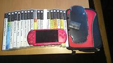 Playstation Portable (PSP) Rouge + jeux + sacoche + gocam + nouvelle batterie