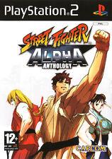 "NEW STREET FIGHTER ALPHA ANTHOLOGY CAPCOM PLAYSTATION 2 / PS2 PAL  ""RARE"""