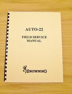 Browning Auto 22 Field Service Manual - Gunsmith - Repair - #B12