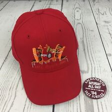 Sacramento Jazz Jubilee Red Baseball Hat Cap Snapback with Pin Jazz Music 2004