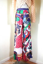Vintage Rare MOSCHINO Wide Printed High Waist Pants sz. 7 8 Italy