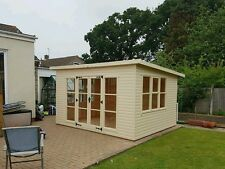 Summerhouse , reading room, 12x8 extra tall pent DELIVERED AND ERECTED