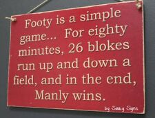 Manly Simple Game Sea Eagles Retro Footy Sign - Jersey Cards Rugby League Etc