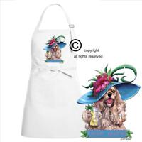 Cocker Spaniel Dog Breed Cartoon Caricature Tropical Drink Kitchen Chef Apron