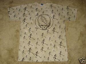 Grateful Dead All Over Skeletons S, M, L, XL, 2XL Tie Dye T-Shirt